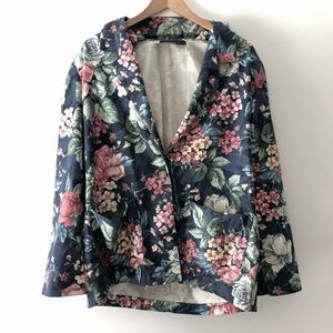 VINTAGE/ oversized blooms jacket